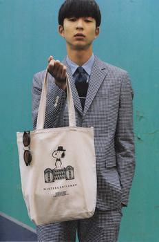 メンズノンノ6月号MISTERGENTLEMAN スヌーピー キャンバストートバッグ使用例.jpg
